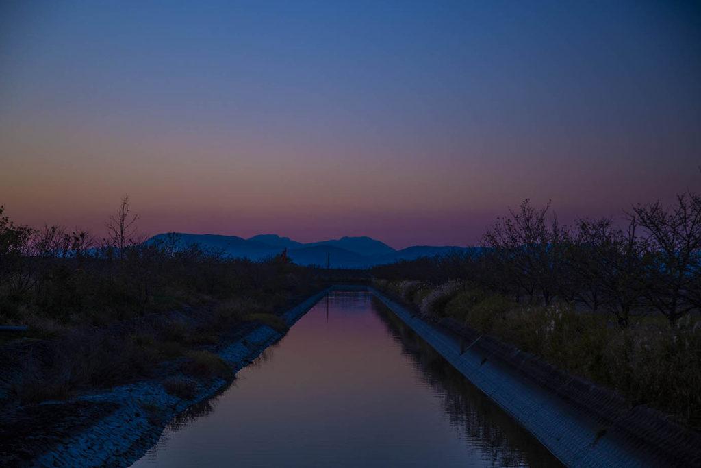 佐賀干潟よか公園の夕日